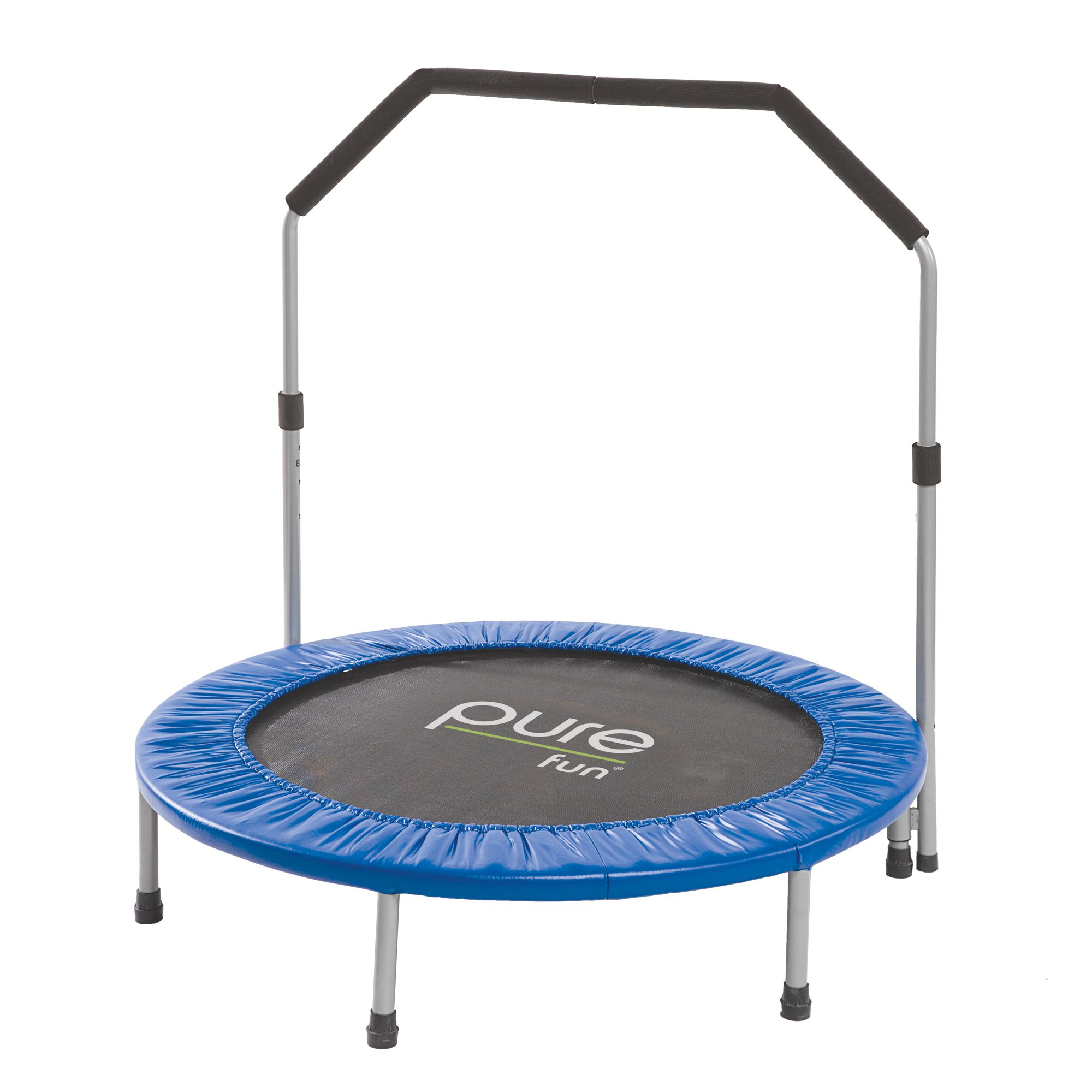 Pure Fun 40'' Mini Rebounder Trampoline with Adjustable Handrail, Ages 13+