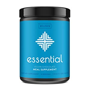 Essential Vegan Meal Replacement Shake - Plant-Based Meal Shake with 60+ Superfoods and Nutrients- 19 g Vegan Protein Powder - 14 Meal Servings - Delicious Chocolate Flavor