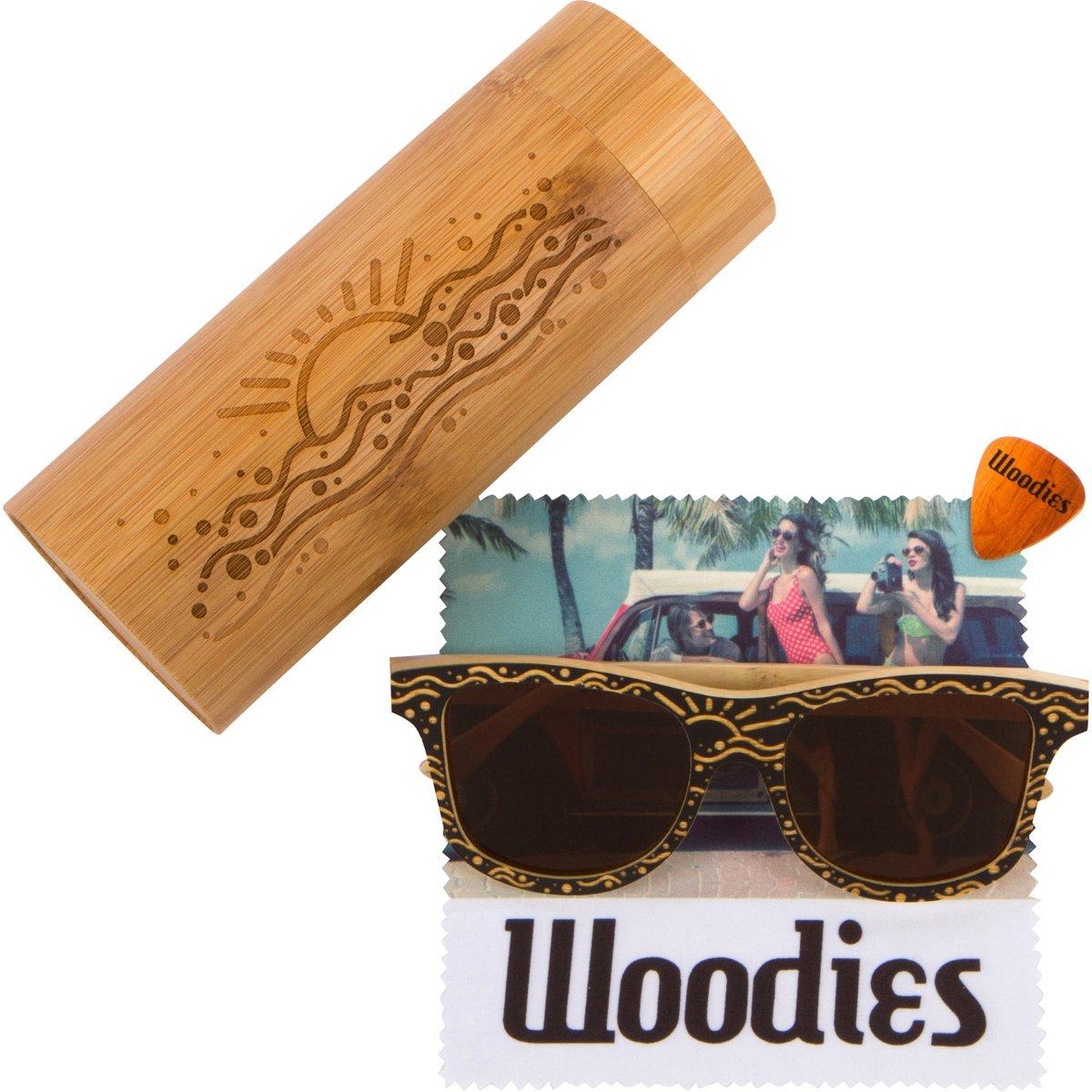 cd2517f69bf Amazon.com  WOODIES Custom Designed Full Bamboo Wood Polarized Sunglasses   Clothing