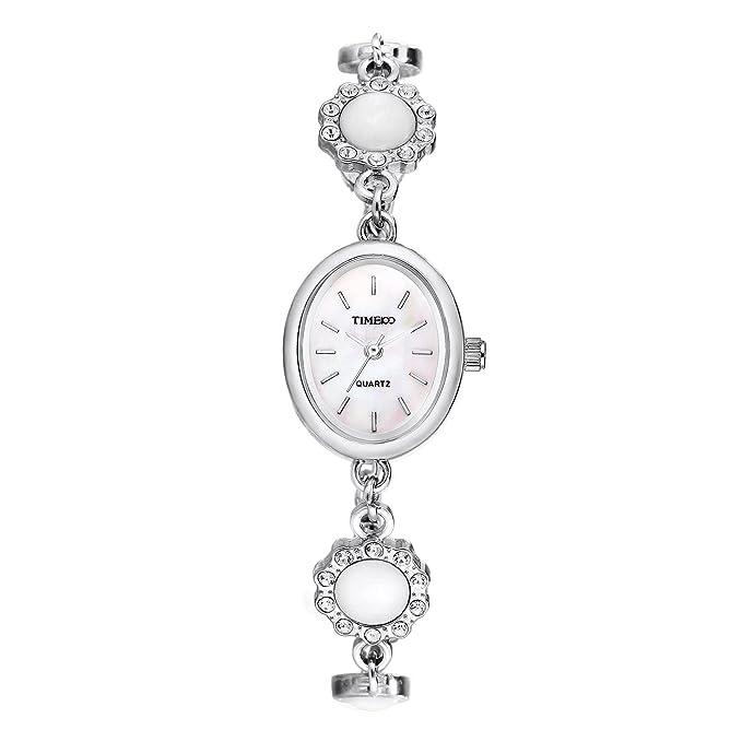 Amazon.com: Time100 Fashion Vintage Diamond Alloy Strap Waterproof Jewelry Bracelet Ladies Quartz Watch # W40124L.02A (Silver): Watches