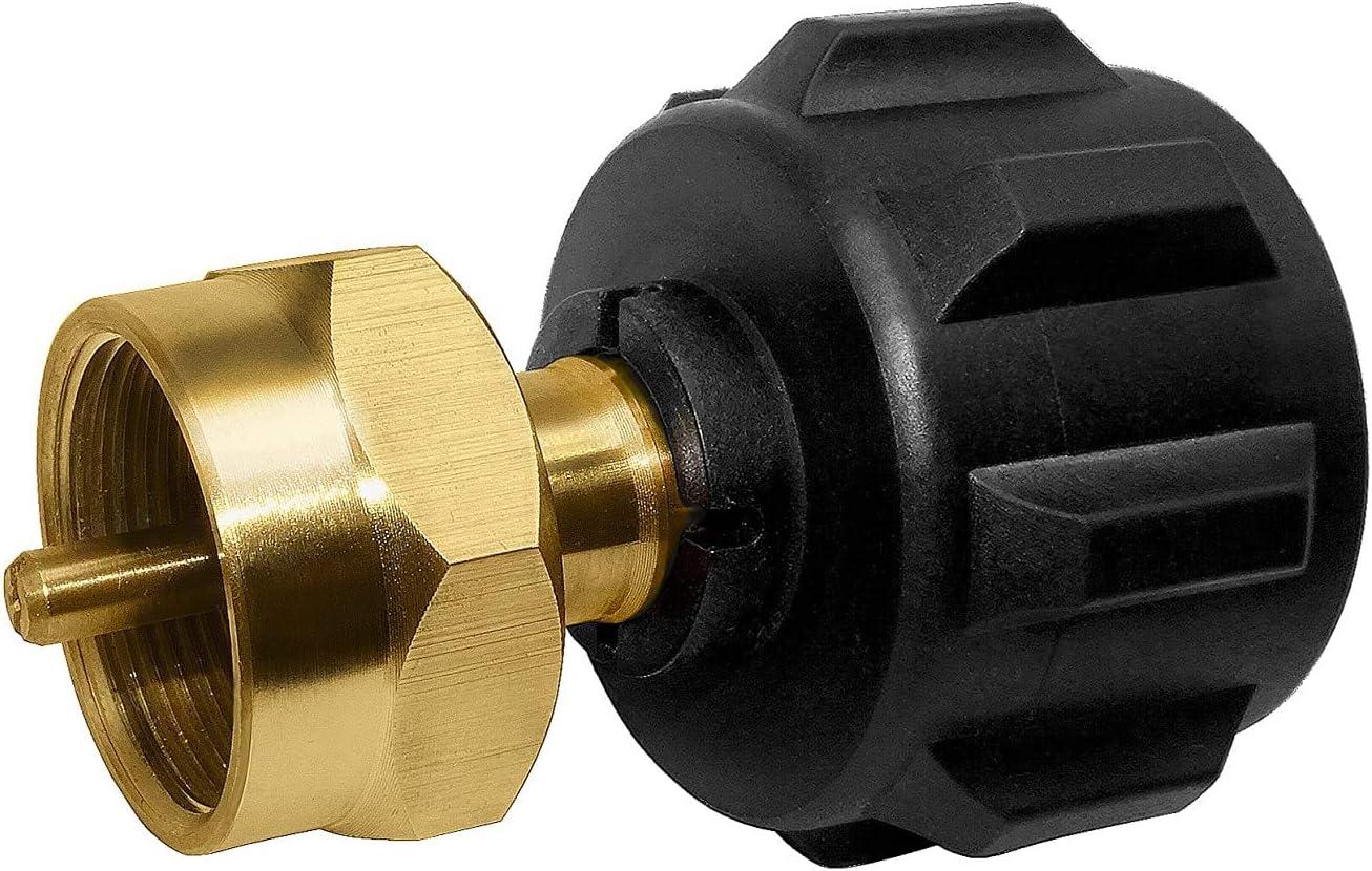 1LB Tank Gas Propane QCC1 Regulator Valve Propane Refill Adapter BBQ Outdoor Kit