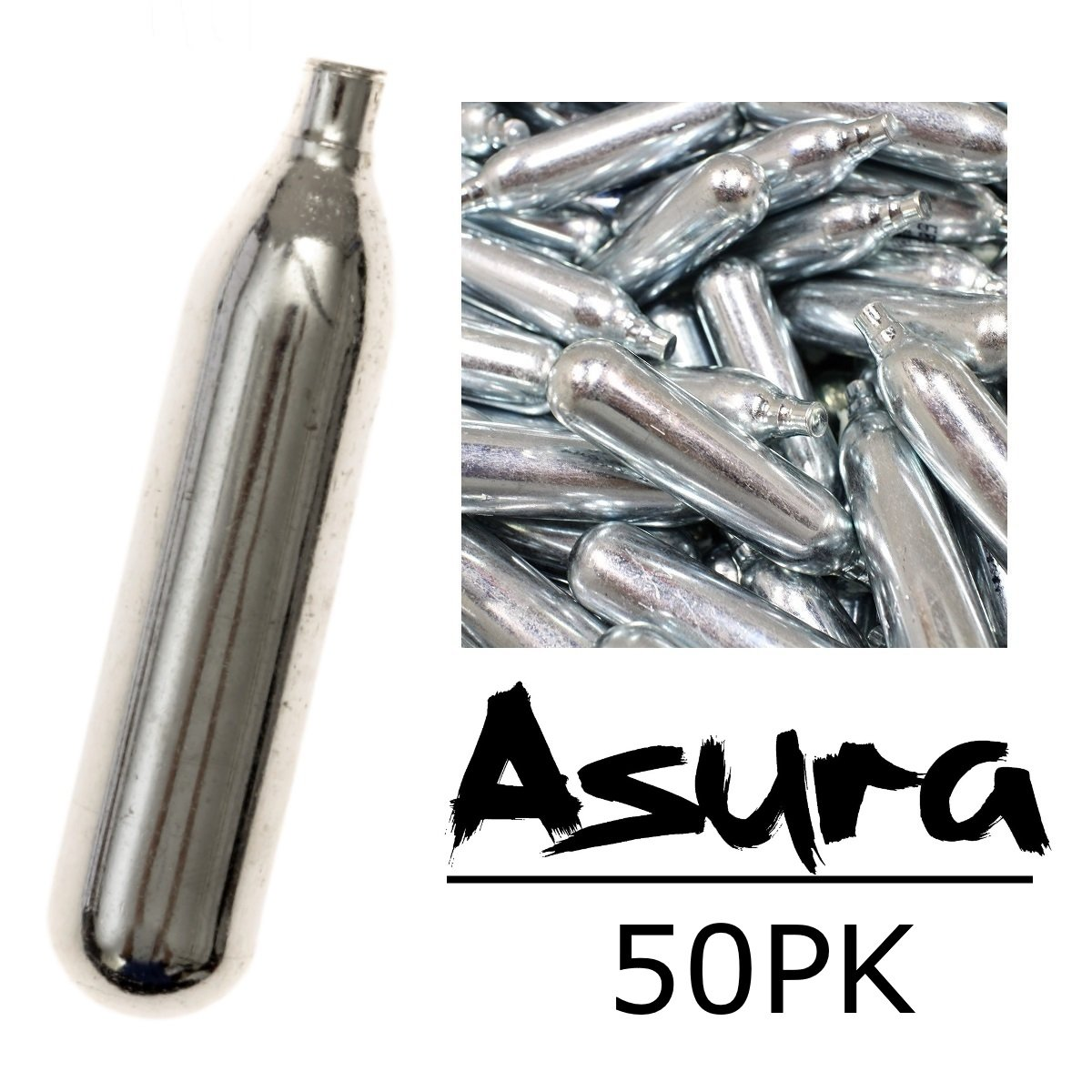 Asura 12g CO2 Cartridges, Pack of 50 by Asura (Image #1)