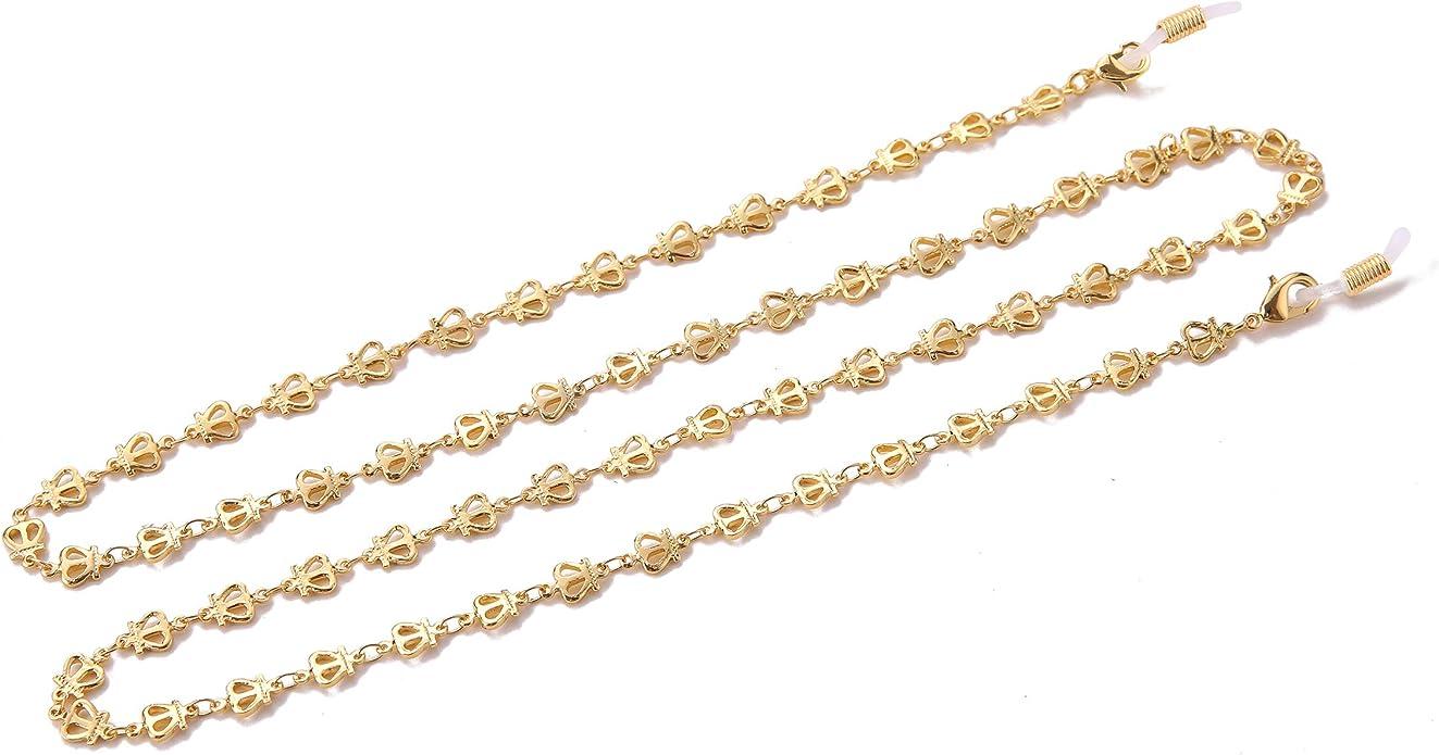 Silver fishhook Eyeglasses Chain Eyeglasses Sunglasses Reading Glasses Beads Strap Holder Chain Keeper Lanyard Black Cord for Women Men Girls