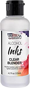 U.S. Art Supply Alcohol Ink Color Blender Solution, Large 4.2 Ounce Bottle - Alcohol-Based Dye Paint Blending Mixing Solution to Lighten, Blend, Dilute, Re-Wet, Remove, Lift Ink - Epoxy Resin Art