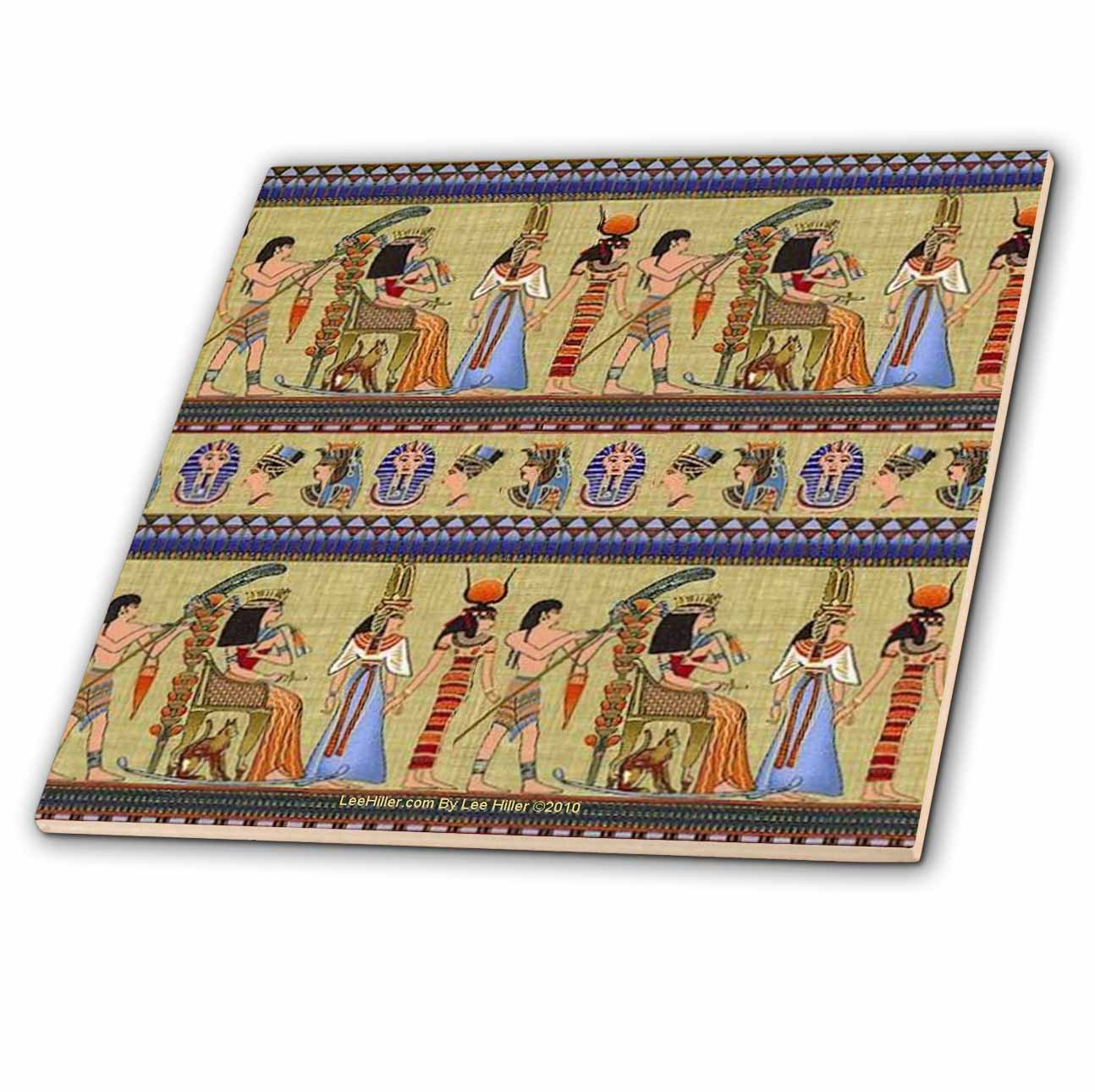 Egyptian Hieroglyphics ct/_4937/_4 Lee Hiller Designs General Themes 12 Inch Ceramic Tile