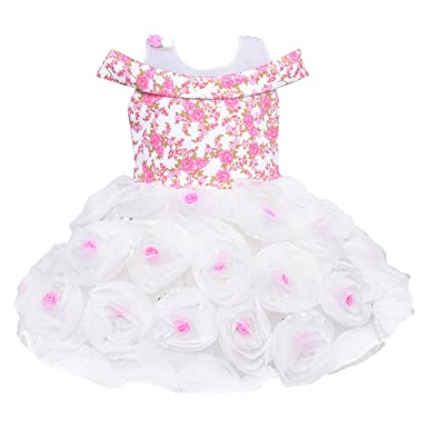 6e9878237 Wish Karo Baby Girls Frock Birthday Dress for Girls - Net - (bxa161 ...