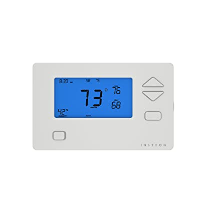 Insteon Smart Thermostat, Works with Alexa via Insteon Hub, Uses Superior Dual-Mesh