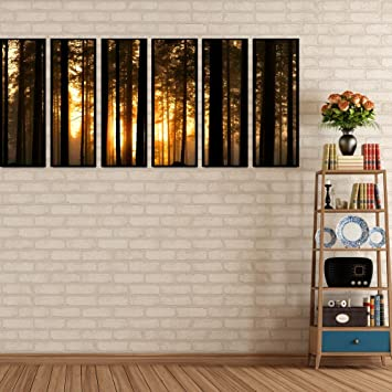 Amazon.com: 999Store multiple frames canvas printed forest in the ...