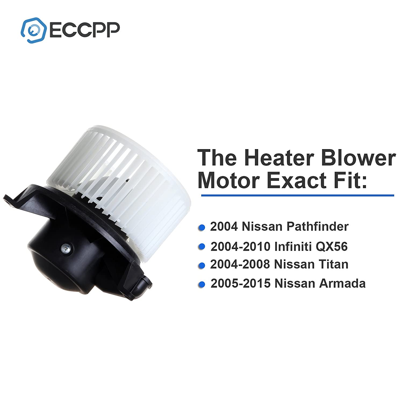 Hvac Plastic Heater Blower Motor W Fan Cage Eccpp For Nissan Armada Engine Diagram 2004 Pathfinder 2010 Infiniti Qx56 2008 Titan 2005 2015