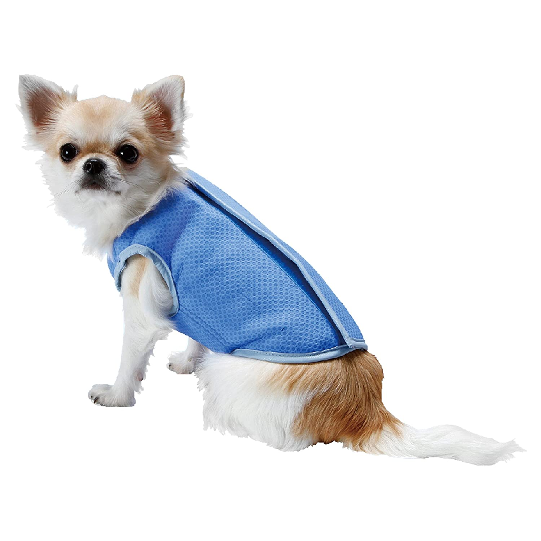 LotFancy Dog Cooling Vest Jacket Coats Swamp Cooler for Puppies Cats Kittens Pets, Blue