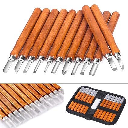 Amazon.com: SanGlory - Juego de 12 cuchillos para tallar ...