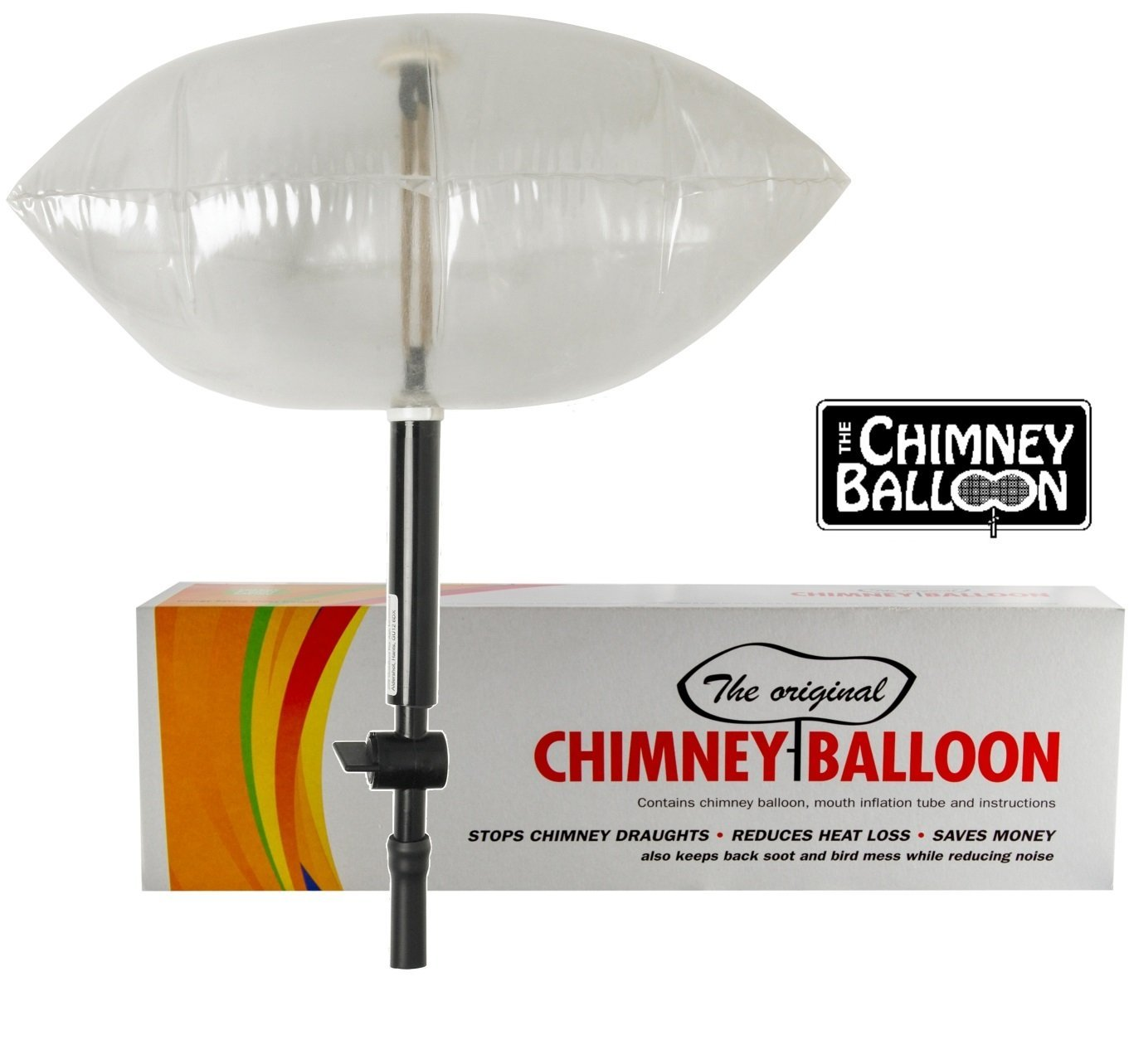 Chimney Balloon Kit (Small) for Chimneys up to 15'x9'/38cmX23cm + FREE TUBE