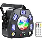 ZKYMZL Party Lights Stage Lights, RGBW/UV 4 in 1 Mixed Lighting Effects LED Magic-Ball Strobe Light by DMX and Remote Control