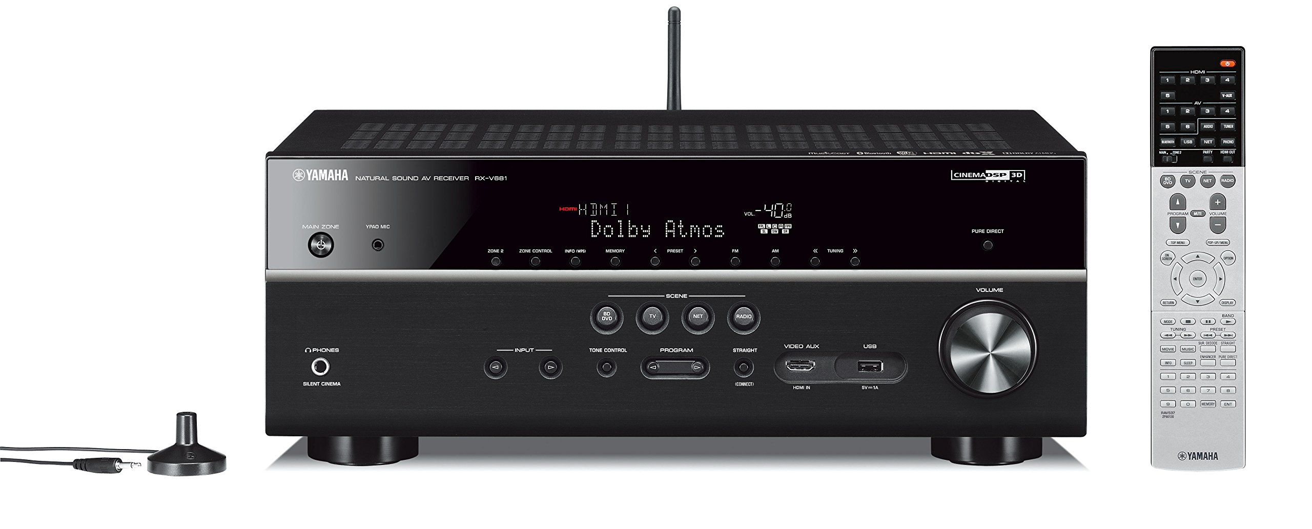 Yamaha RX-V681BL 7.2-Channel MusicCast AV Receiver with Bluetooth by Yamaha