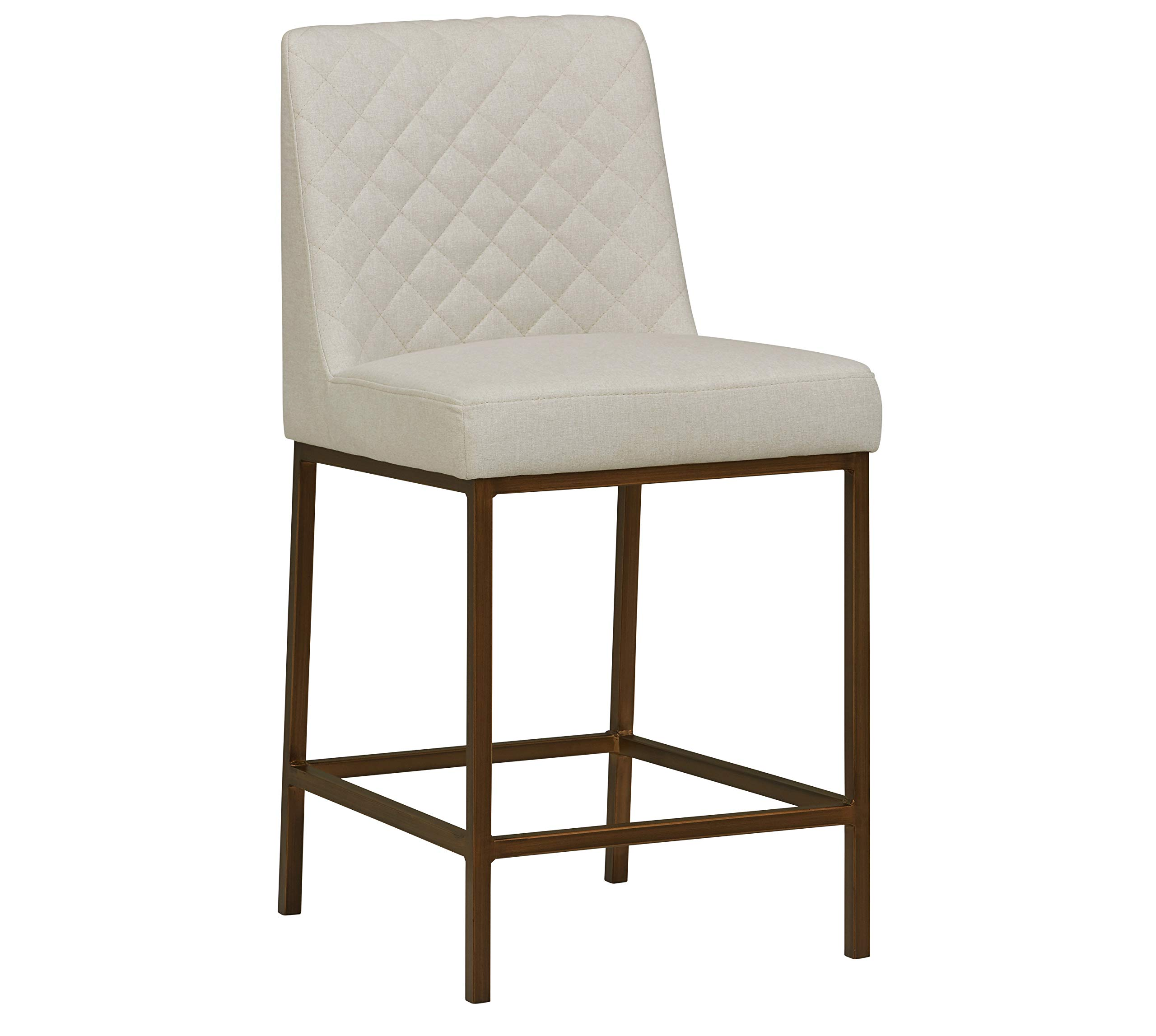 Rivet Vermont Modern Barstool 38''H, Chalk by Rivet