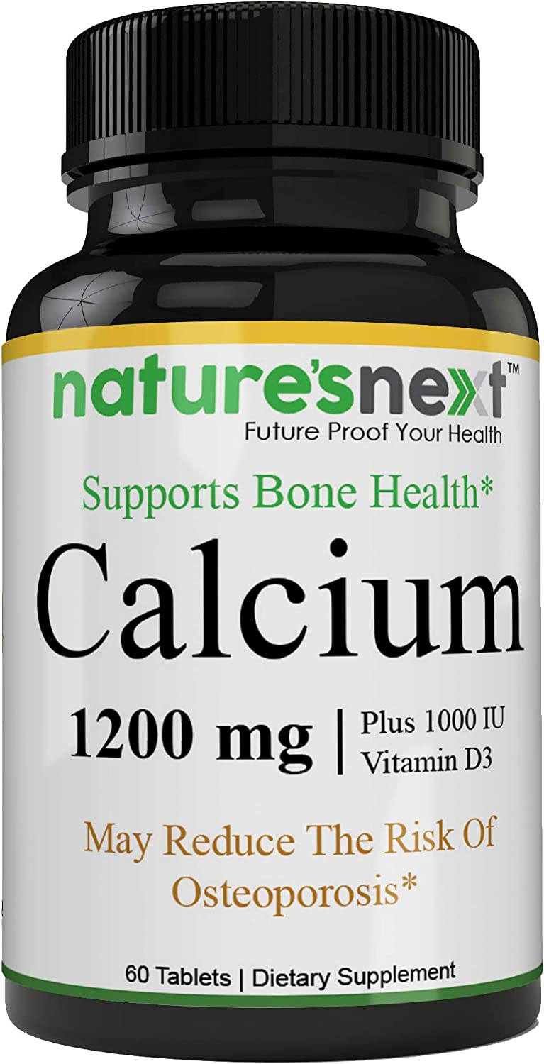 Very Effective Calcium Supplement with Vitamin D3 - Bone Strength Clinical Strength Plant Calcium with Vitamin D3