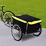 Yaheetech Garden Bike Bicycle Cargo Luggage Trailer-Yellow/Black