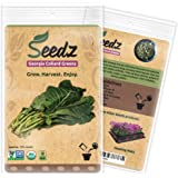 CERTIFIED ORGANIC SEEDS (Appr. 125) - Georgia Collard Greens - Heirloom Seeds - Collard Green Seeds - Non GMO, Non Hybrid Vegetable Seeds - USA