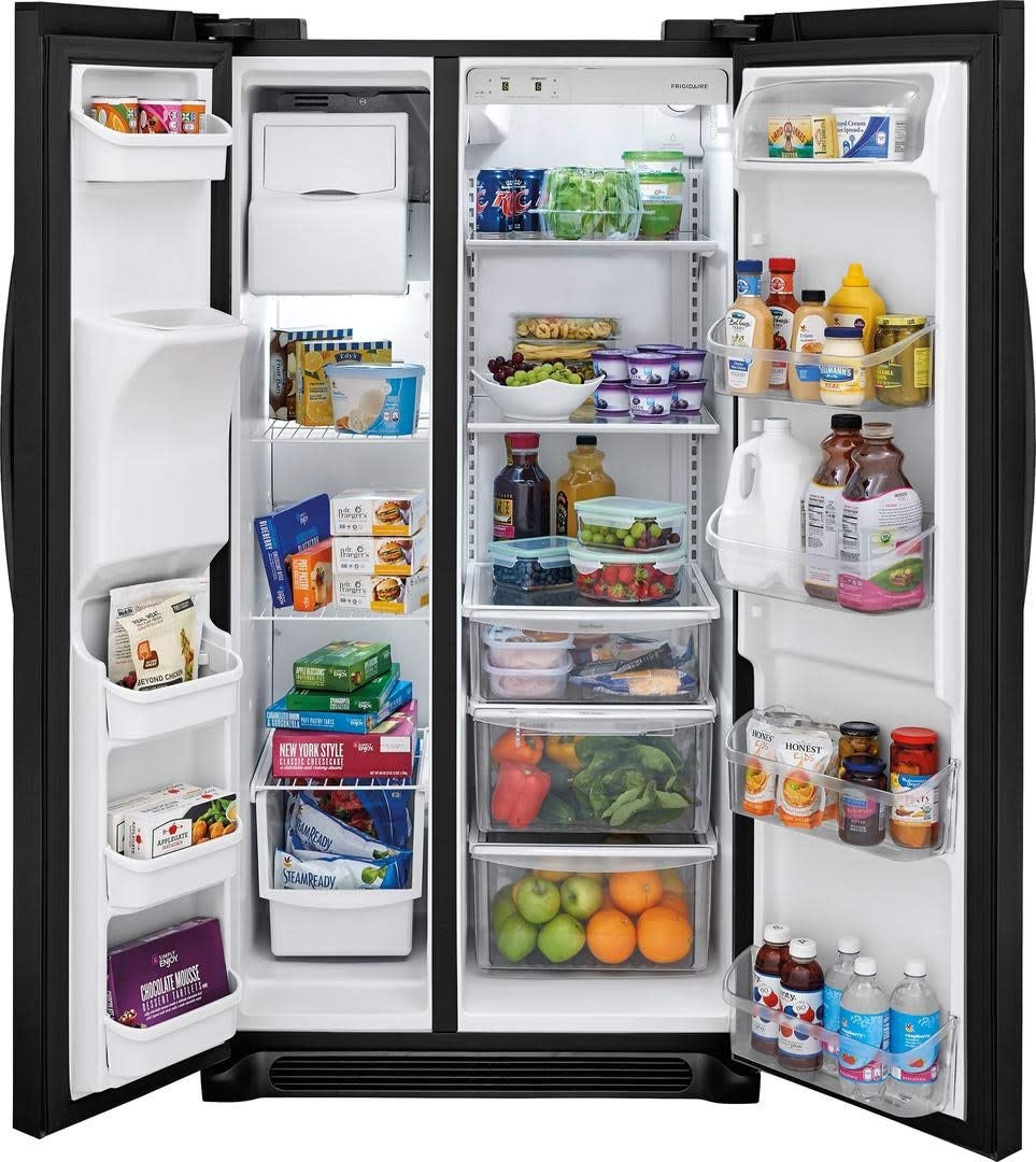 ft Capacity Frigidaire FFSS2625TS Side by Side Refrigerator with 25.6 cu in Stainless Steel