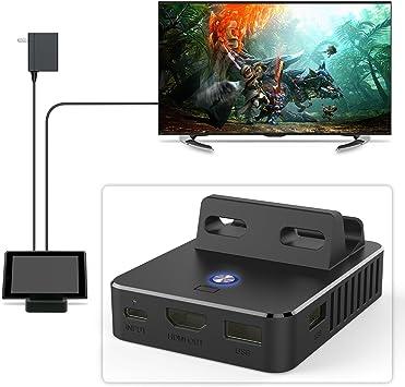 HDMI TV Conventor para interruptor, portátil BASE de carga para Nintendo Interruptor Electrónico Con Chip: Amazon.es: Electrónica