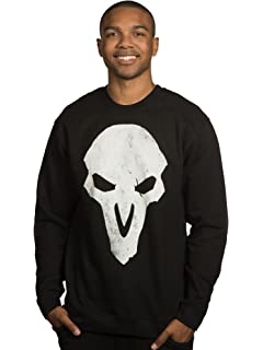 JINX Overwatch Mens Reaper Crew Neck Pullover Sweatshirt