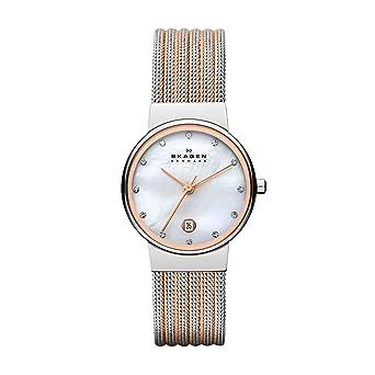 70a01e8c7b77 Skagen Women s Ancher Quartz Two-Tone Stainless Steel Mesh Dress Watch