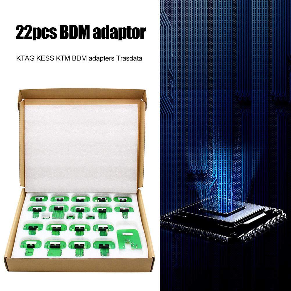Hellycuche 22 Piezas para adaptadores KTAG Kess KTM BDM Adaptador de Ajuste de Chip Tardata