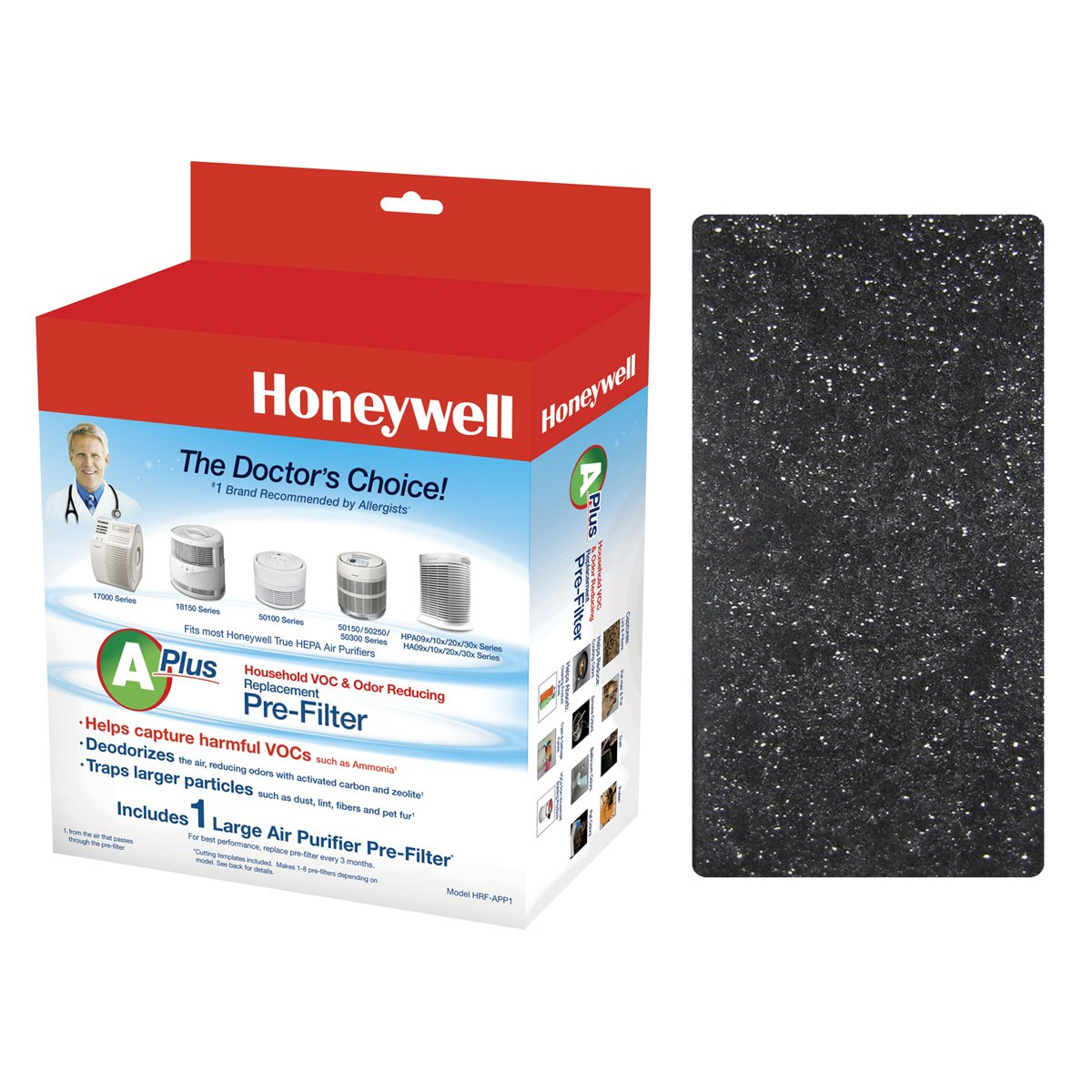 Honeywell Premium Odor-Reducing Air Purifier Replacement Pre-Filter, HRF-APP1 / Filter (A+)