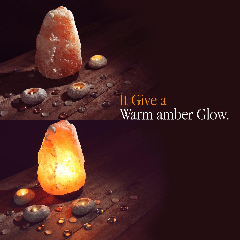 Himalayan Glow 1001 Salt Lamp, ETL Certified himalayan pink salt lamp, Home Décor Table lamps | 5-8 lbs by WBM by Himalayan Glow (Image #3)