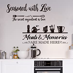 3 Pieces Kitchen Wall Decal Wall Arts Stickers Dining Room Decals Decor Home Decor for Kitchen Dining Room Decoration