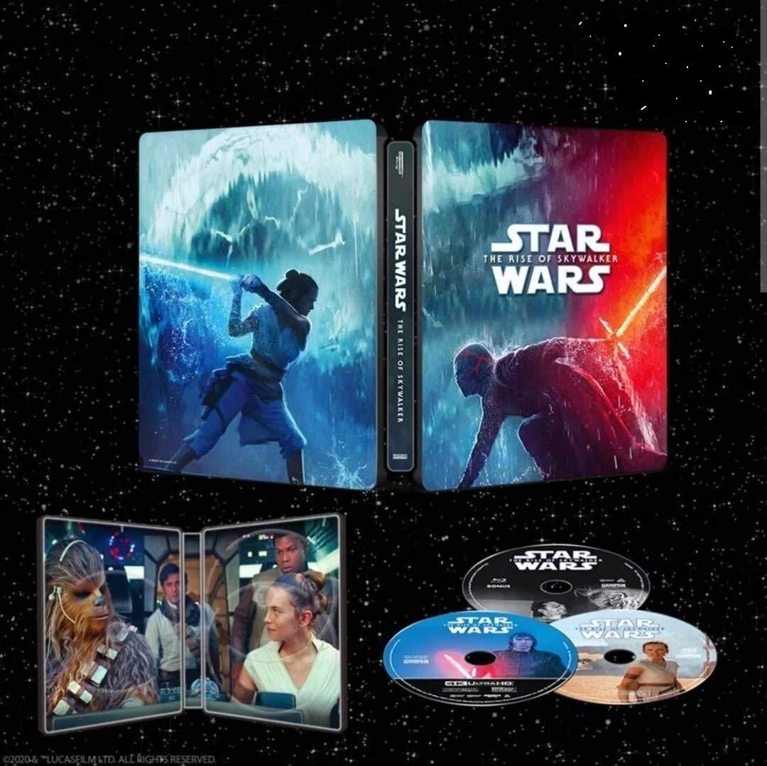 Amazon Com Star Wars The Rise Of Skywalker Steelbook Dig Copy 4k Ultra Hd Blu Ray Blu Ray Movies Tv