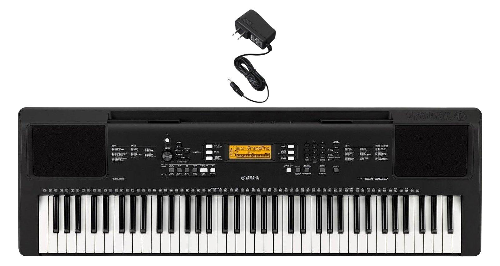 Yamaha PSREW300AD 76-Key Portable Keyboard & Power Supply