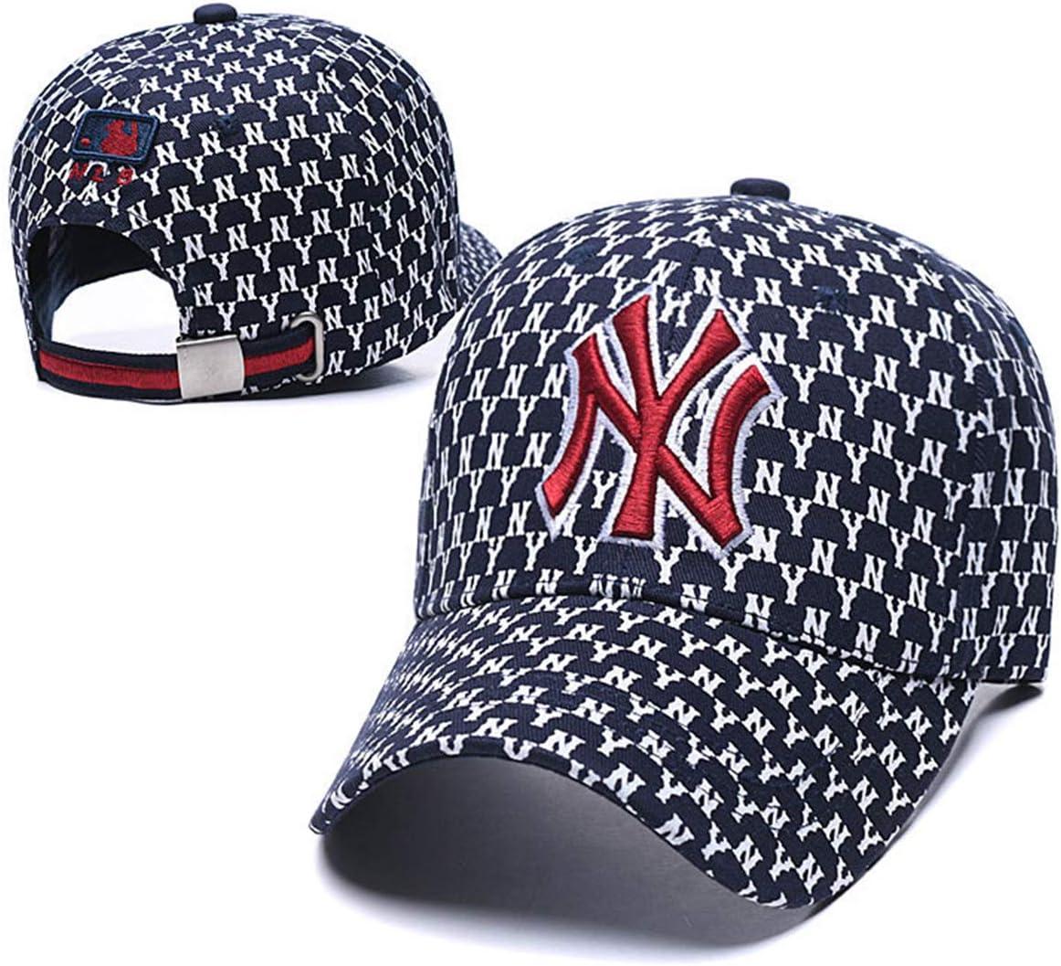 Red Baosale NY Yankees Colorful Baseball Hat Adjustable Unisex Fashion Baseball Cap