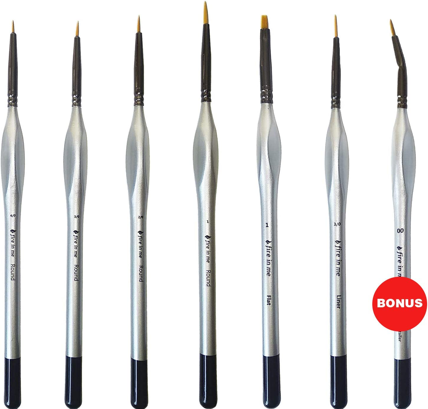 Miniature Paint Brush Set 6pcs + 1 Free - Best Find Detail Paint Brushes Model Paint Brush Set - Small Tiny Oil Watercolor Acrylic Brushes Hobby Art Supplies