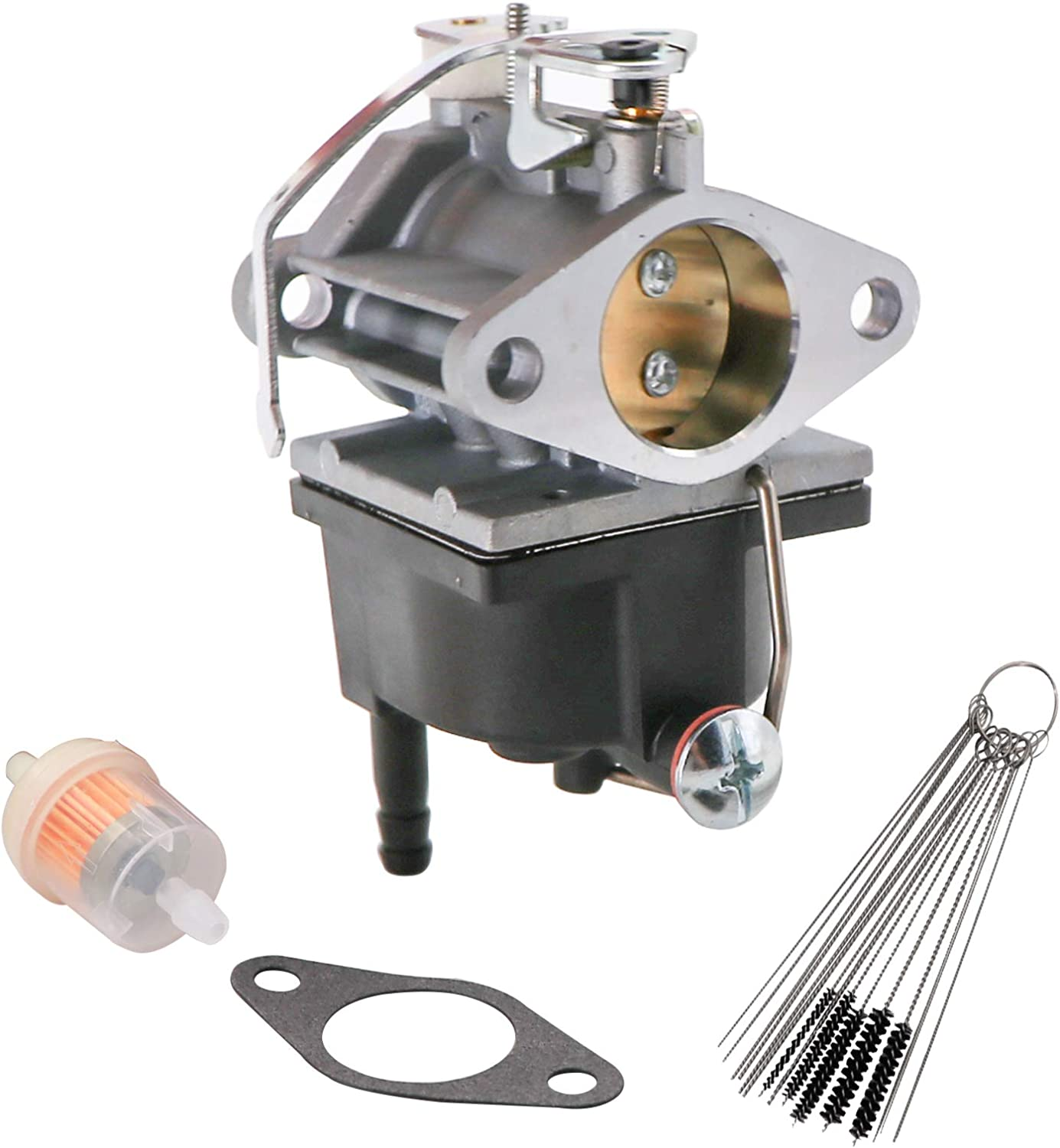 KIPA Carburetor for Tecumseh OH318 OHM90 OHM110 Engines Replace # 640353 640285 640289 640328 640329 with Gasket & Carbon Dirt Jet Cleaner Tool kit Durable