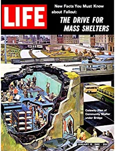 Wee Blue Coo Vintage Magazine Cover Fallout Nuclear War Community Bomb Shelter Unframed Wall Art Print Poster Home Decor Premium