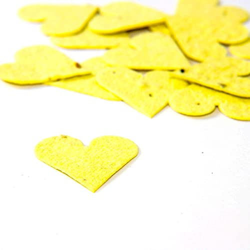Amazon yellow flower seed paper heart plantable party confetti yellow flower seed paper heart plantable party confetti qty 100 mightylinksfo