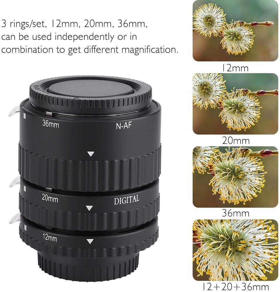 Pomya Auto Extension Tube Set,Mcoplus Auto Focusing Macro Extension Lens Tube 12mm+20mm+36mm for Nikon D7100 D7000 D5300 Plastic