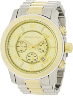 Michael Kors Mens MK8098 Two-Tone Oversize Runway Watch