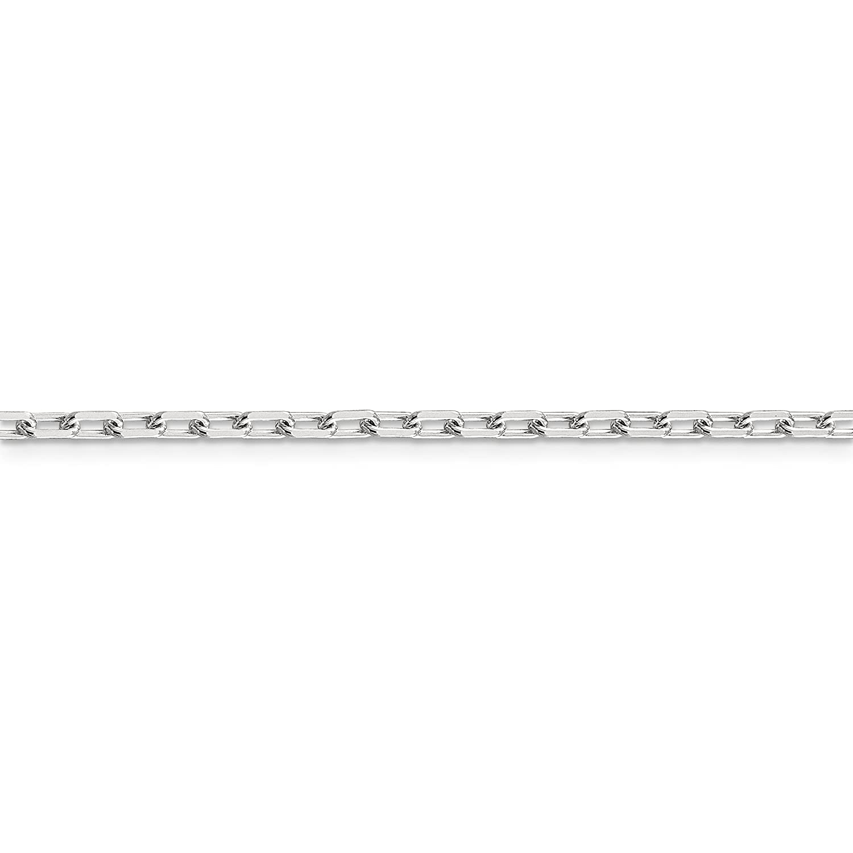 Brilliant Bijou Solid .925 Sterling Silver 2.75mm Fancy Link Chain Bracelet
