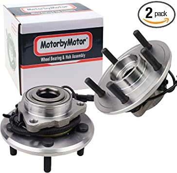 AutoHorizon 2 X Front Wheel Hub and Bearing Assembly w//ABS 515151 Compatible with 2012-2016 Dodge Ram 1500