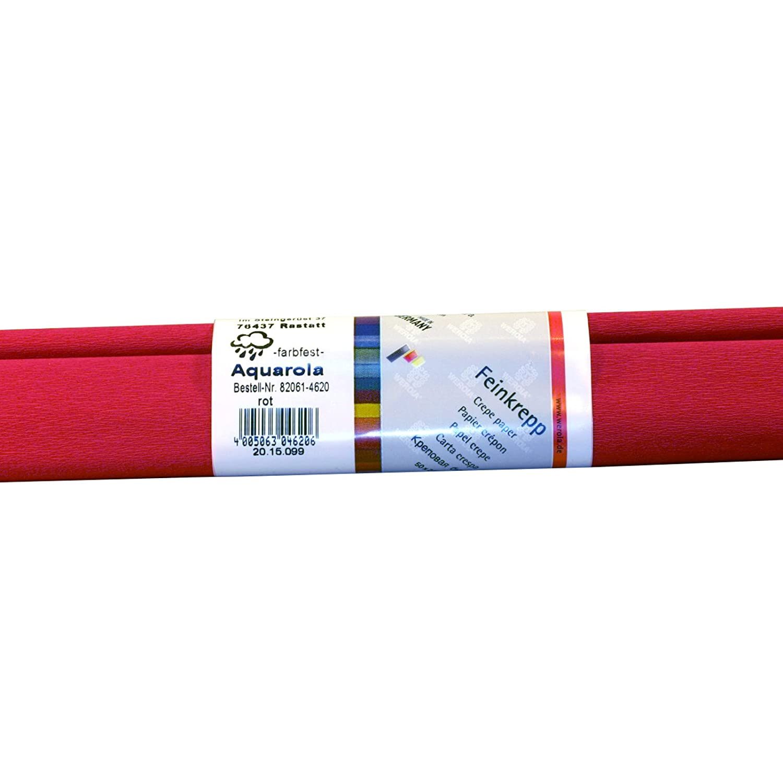 10 x 1 Rolle Aquarola-Feinkrepp rot 50x250cm farbfest