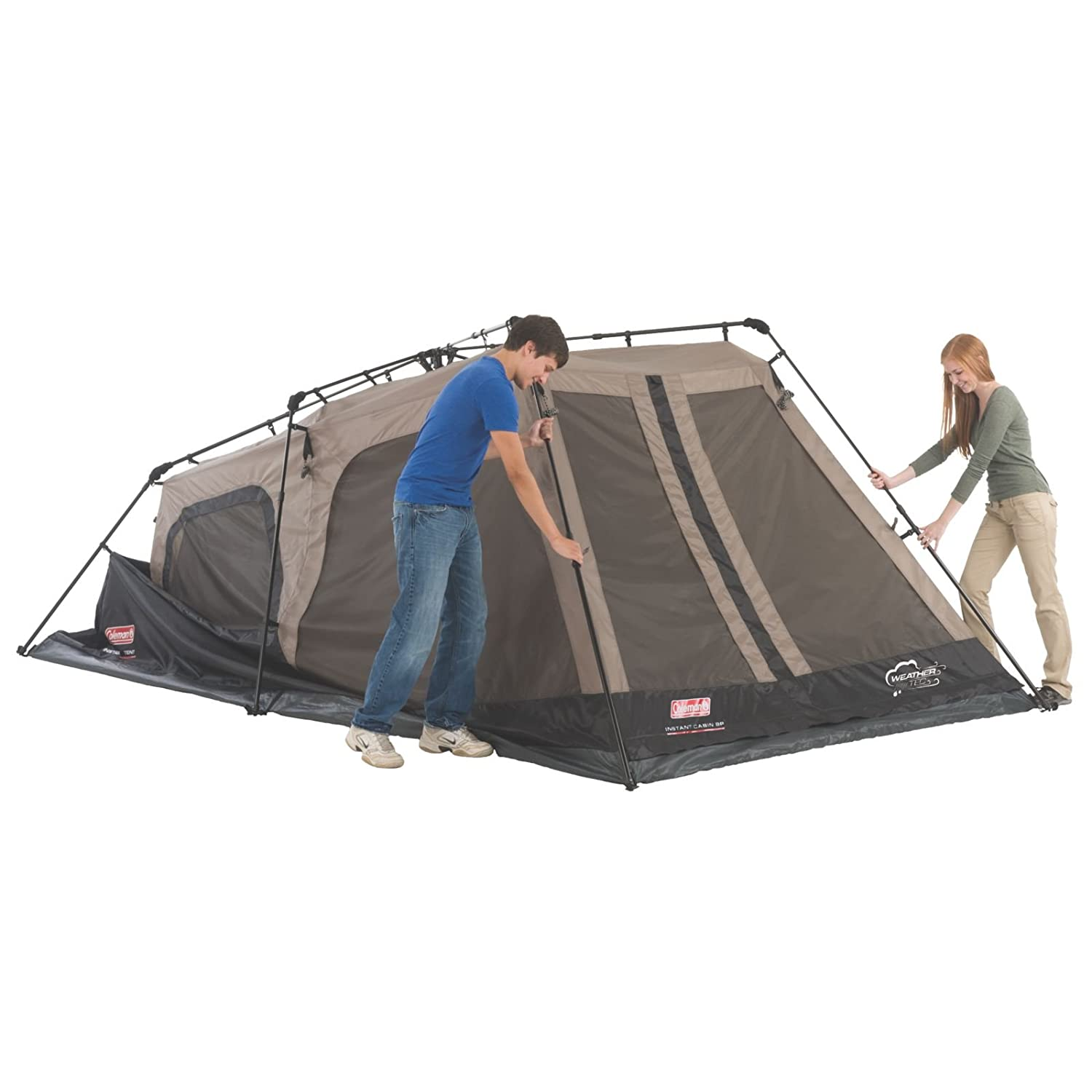 Amazon.com  Coleman 8-Person Instant Cabin  Family Tents  Sports u0026 Outdoors  sc 1 st  Amazon.com & Amazon.com : Coleman 8-Person Instant Cabin : Family Tents ...