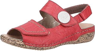 size 40 7d81f efe8e Amazon.com   Rieker Damen-Sandalette Rot (4)   Loafers ...
