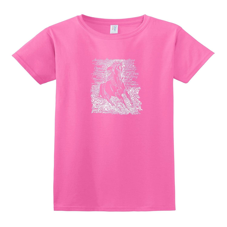 Amazon.com: LA POP ART Womens Word Art Missy T-shirt ...