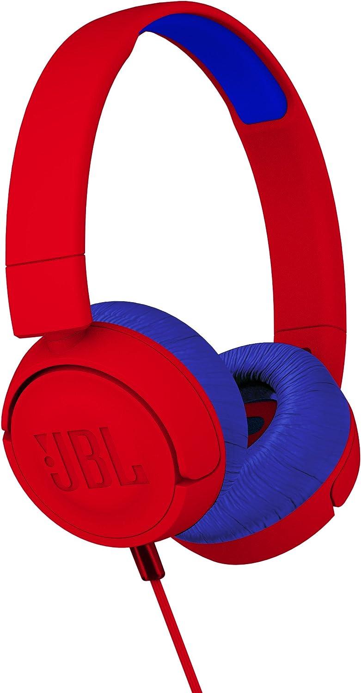 JBL JR300 Kids Wireless On-Ear Bluetooth Headphones - Red