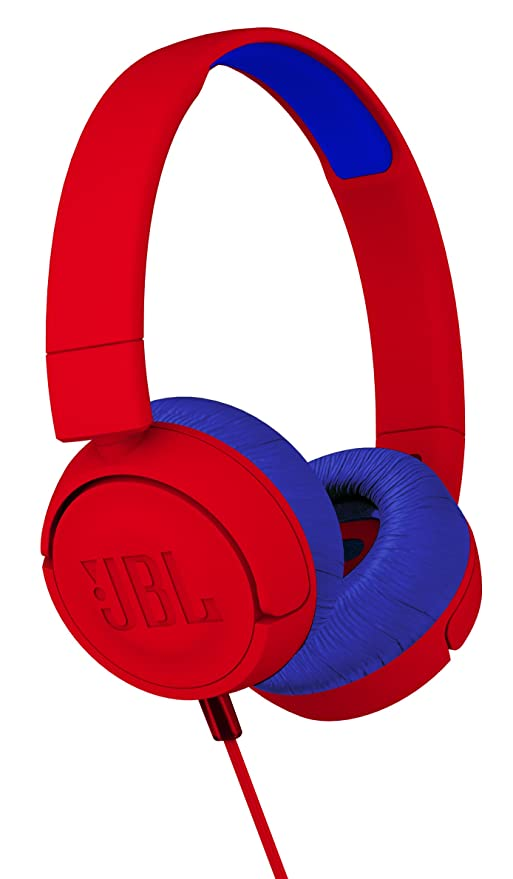 1a2df198160 Amazon.com: JBL JR 300 Kids On-Ear Headphones with Safe Sound Technology ( Red): Musical Instruments