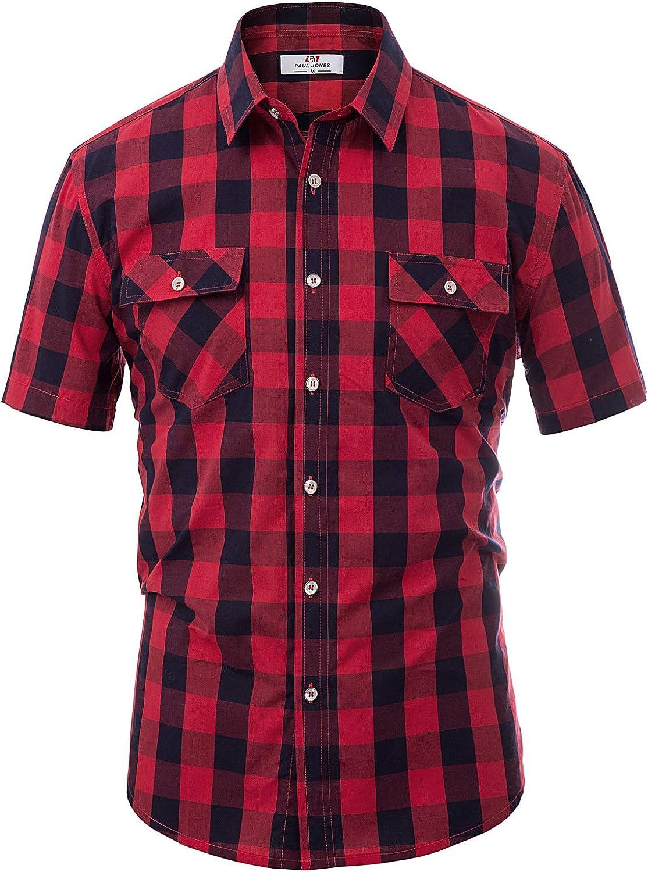 1950s Mens Shirts | Retro Bowling Shirts, Vintage Hawaiian Shirts PAUL JONES Mens Western Plaid Shirt Button Down Casual Shirt $24.99 AT vintagedancer.com