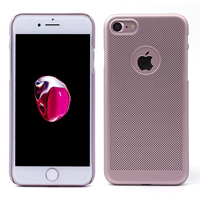 "5 opinioni per iProtect Custodia Cover per Apple iPhone 7""Net Design- Rosa Dorato"