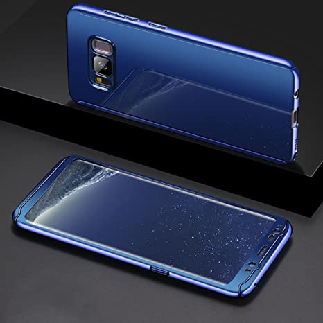 coque samsung s8 360 bleu
